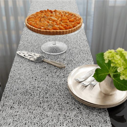 Chilewich Platzset »Tischläufer Metallic Lace, silber«