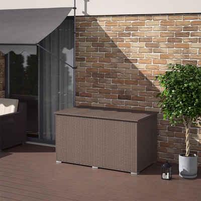 Oskar-Store Kissenbox »XXL Polyrattan 950L Auflagenbox Braun Gartenbox Gartentruhe«