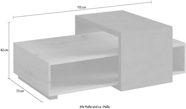 Wohnzimmertische - TRENDMANUFAKTUR Couchtisch, Breite 115 cm  - Onlineshop OTTO