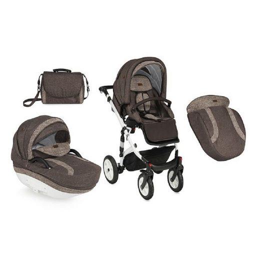 Lorelli Kombi-Kinderwagen »Kombikinderwagen Mia 2 in 1«, mit Fußsack, klappbar, schwenkbare Vorderräder