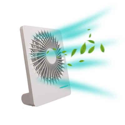 BIGTREE Tischventilator leiser USB Tischventilator wiederaufladbarer Ventilator