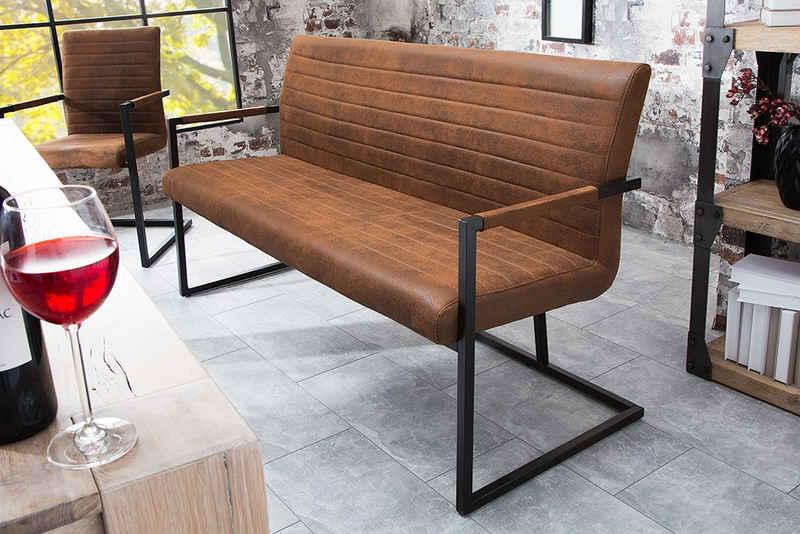 riess-ambiente Sitzbank »LOFT 160cm vintage braun«, mit Microfaser-Bezug
