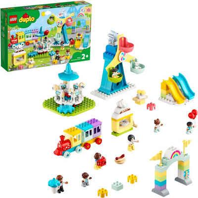 LEGO® Konstruktionsspielsteine »Erlebnispark (10956), LEGO® DUPLO® Town«, (95 St), Made in Europe