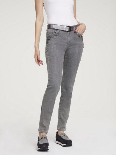 heine TIMELESS Jeans Aleria mit Schmuckbesatz