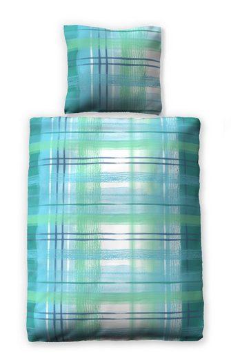 Bettwäsche »Watercolor Blue«, jilda-tex, mit grafischem Muster