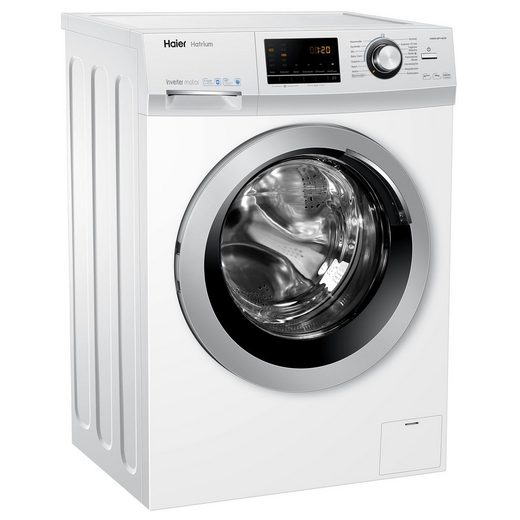 Haier Waschmaschine HW90-BP14636 A+++, 9 kg, 1400 U/Min, Bürstenloser Inverter Motor AquaProtect-Schlauch