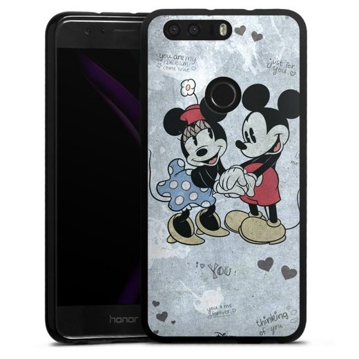 DeinDesign Handyhülle »Mickey&Minnie In Love« Huawei Honor 8, Hülle Offizielles Lizenzprodukt Minnie Mouse Mickey Mouse