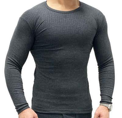 Garcia Pescara Thermounterhemd »warmes langärmliges Thermo-Shirt für Herren in anthrazit«, weich, elastisch