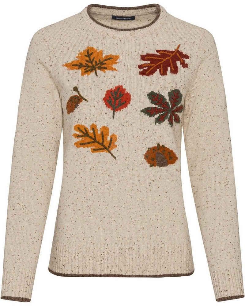 Highmoor Strickpullover »Pullover mit Herbstlaub«