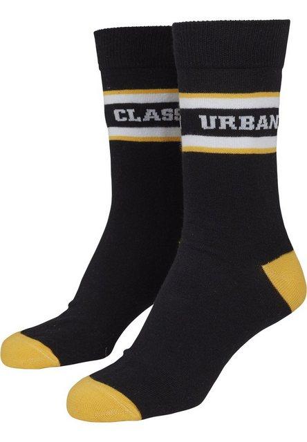 URBAN CLASSICS Basicsocken »Logo Stripe Sport Socks 2-Pack«