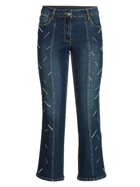 Hosen - Amy Vermont Jeans mit Strasssteindekoration › blau  - Onlineshop OTTO