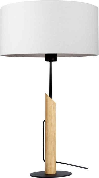 andas Tischleuchte »GJOVIK«, Fuß der Tischlampe aus edlem Eichenholz, hochwertiger Textilschirm, Made in Europe
