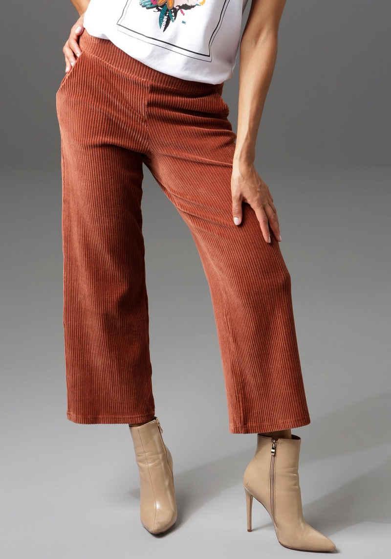 Aniston CASUAL Cordhose in trendiger Culotte-Form