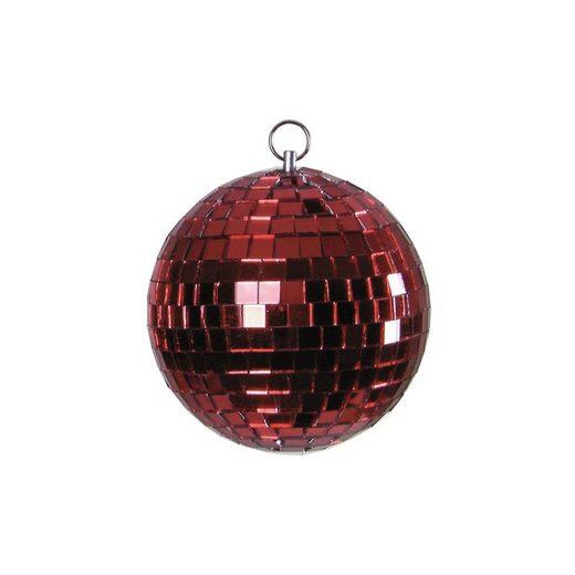 SATISFIRE Discolicht »Spiegelkugel 15cm - rot - Diskokugel Echtglas - 10x10mm Spiegel - DEKO Serie«