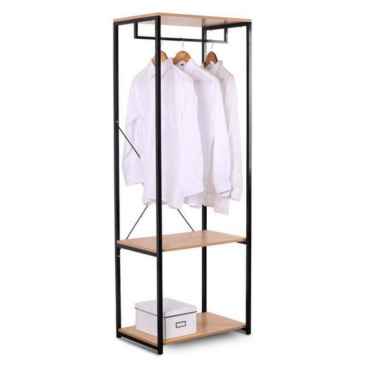 Woltu Kleiderstange »SR0046«, Kleiderständer Hängeregal Kleiderstange mit Schuhregal Garderobe Ständer, Metall und Holz, ca.60 x 40 167 cm