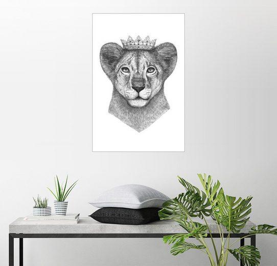 Posterlounge Wandbild, Premium-Poster The lion princess