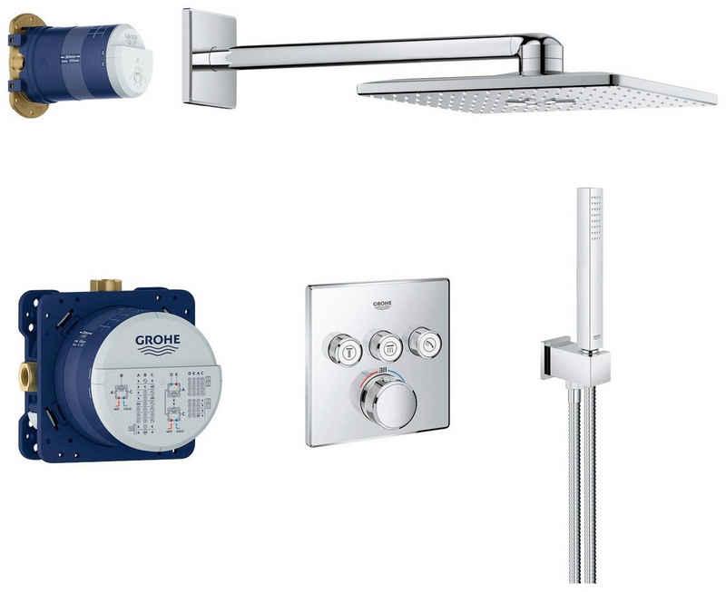Grohe Duschsystem »Smartcontrol«, 2 Strahlart(en), Komplett-Set, 7 tlg., Komplettset inklusive allen Unterputz- und Fertigbauteilen, Unterputz mit Rainshower Smartactive 310 Cube