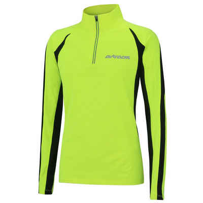 Airtracks Laufshirt »Damen Thermo Laufshirt Langarm Pro« Funktionsshirt mit Winter Fleece für Herbst-Winter » S M L XL XXL «