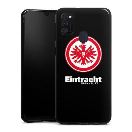 DeinDesign Handyhülle »Eintracht Frankfurt schwarz« Samsung Galaxy M30s, Hülle Eintracht Frankfurt SGE Adler
