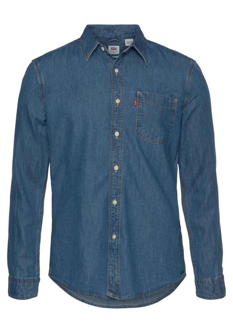 Levi's® Langarmhemd mit Brusttasche