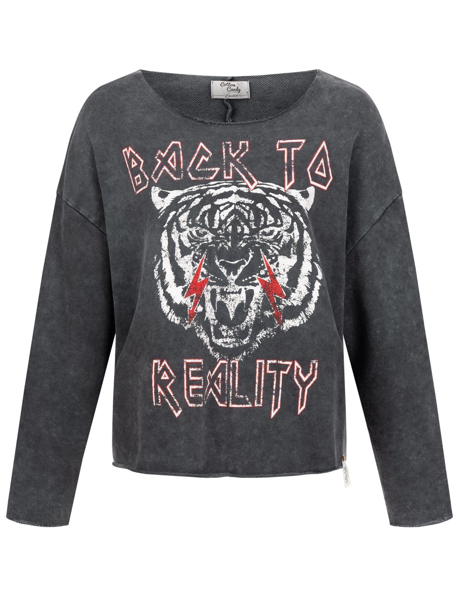 Cotton Candy Sweatshirt Koza Mit Großflächigem Aufdruck Online Kaufen