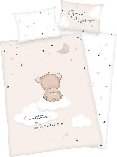Babybettwäsche »Little Dreamer«, Baby Best, mit niedlichem Motiv und liebevollem Schriftzug