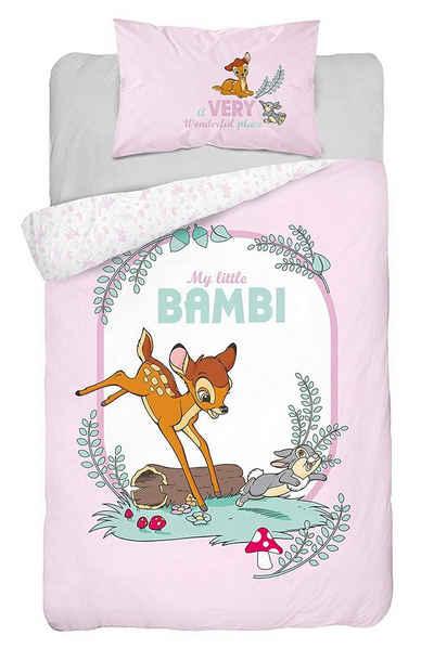 Babybettwäsche »Bambi Rosa«, Disney, 100x135 40x60 cm, 100% Baumwolle