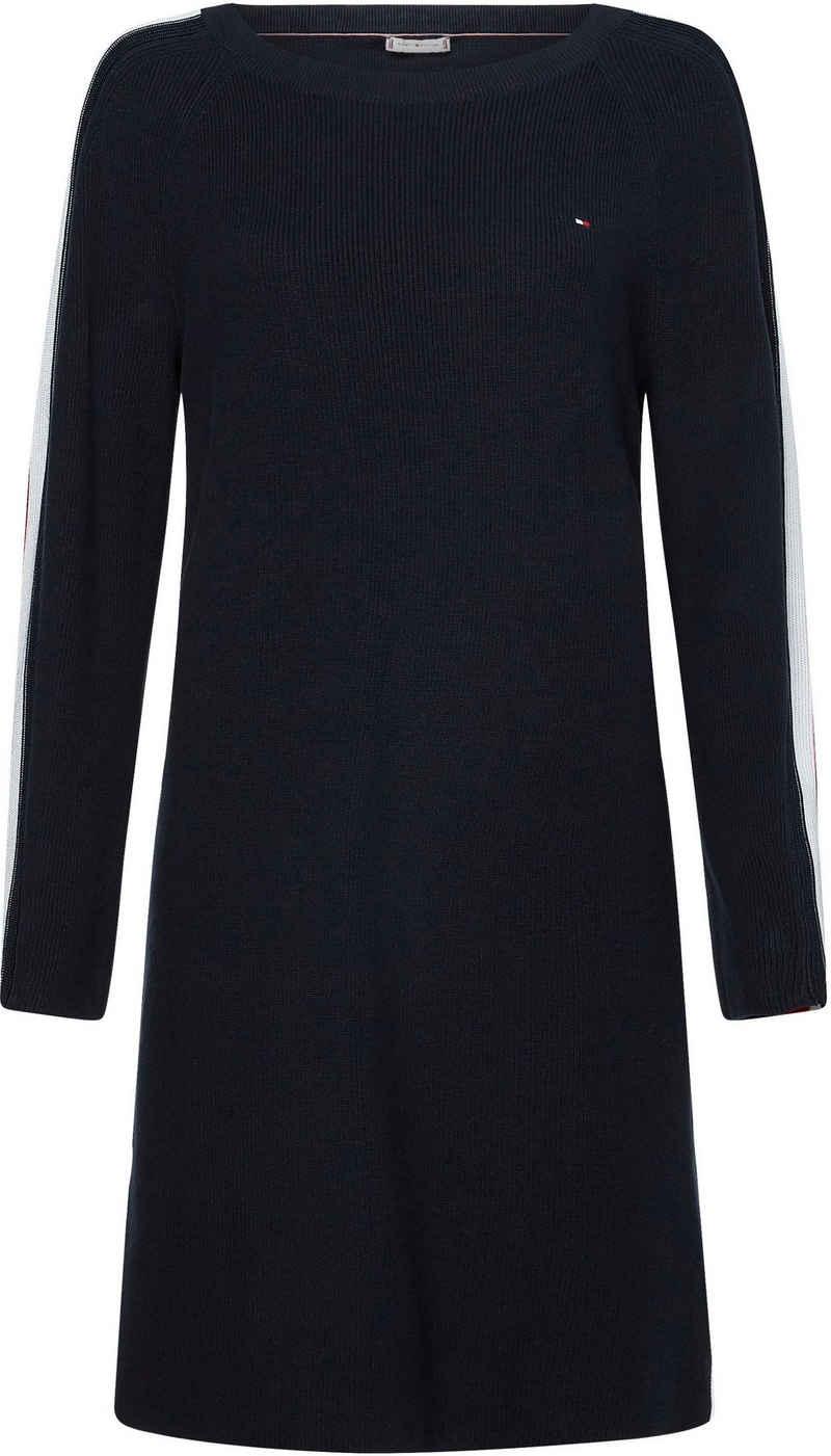 Tommy Hilfiger Jerseykleid »GLOBAL STRIPE OPEN-NK KNEE DRESS« aus Feinstrick