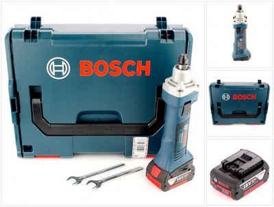 Bosch Professional Rundschleifer »Bosch GGS 18 V-LI Akku Geradschleifer 18V + 1x Akku 5,0Ah + L-Boxx - ohne Ladegerät«