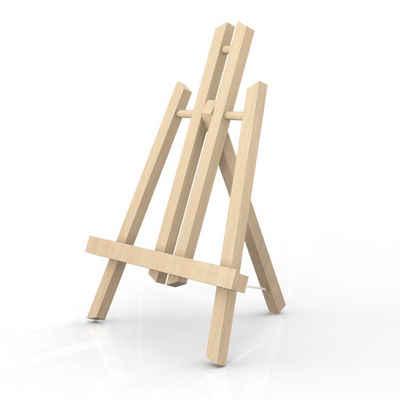 Intirilife Tischstaffelei »Tischstaffelei aus Buchenholz«, Intirilife Tischstaffelei aus Buchenholz 18 x 30 cm - Klappbarer Bildhalter Foto-Ständer Dreibeinige Sitzstaffelei