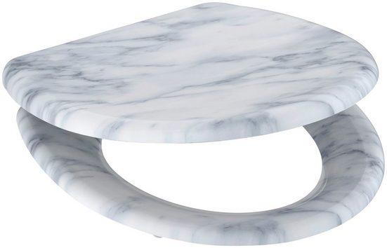 welltime WC-Sitz »Marble«, mit Absenkautomatik, abnehmbar