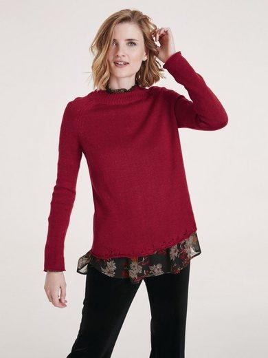 heine CASUAL Pullover mit Stehkragen