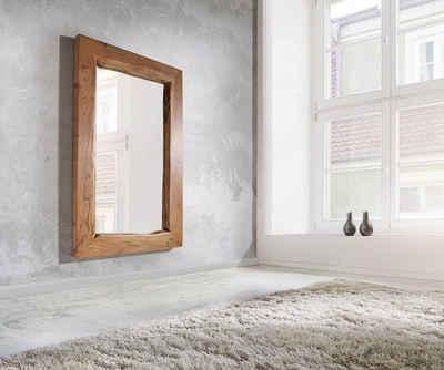DELIFE Spiegel »Live-Edge«, Akazie Natur 135x85 cm massiv Baumkante Wandspiegel