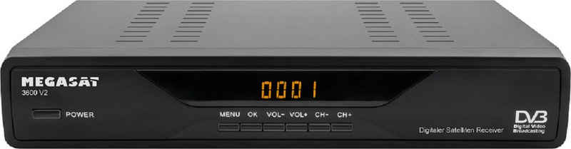 Megasat »Megasat 3600« SAT-Receiver (SD Receiver, Fernbdienung, Display, Scart Anschluss)