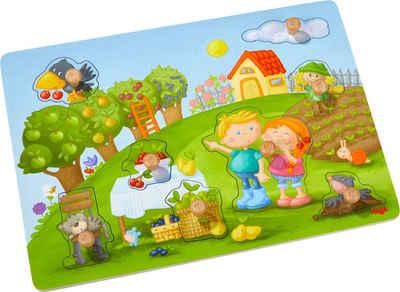 Haba Steckpuzzle »Obstgarten«, 8 Puzzleteile