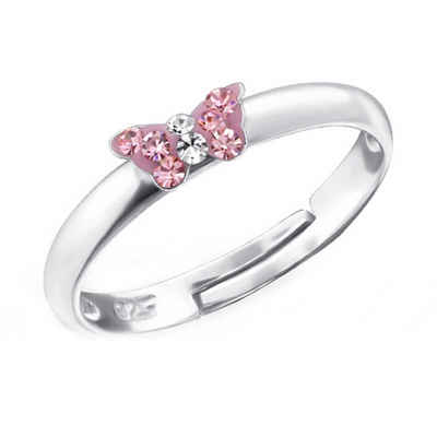 schmuck23 Fingerring »Kinder Ring Schmetterling 925 Silber«, Kinderschmuck Mädchen Geschenk