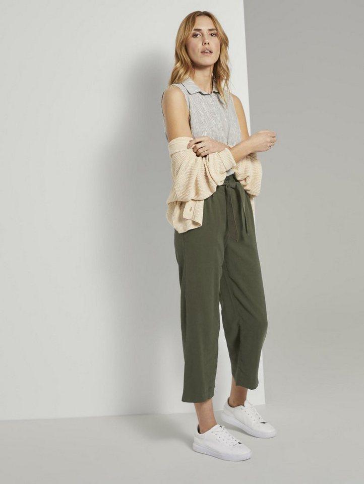 tom tailor -  Chinohose »Fließende Culotte-Hose mit Bindegürtel«