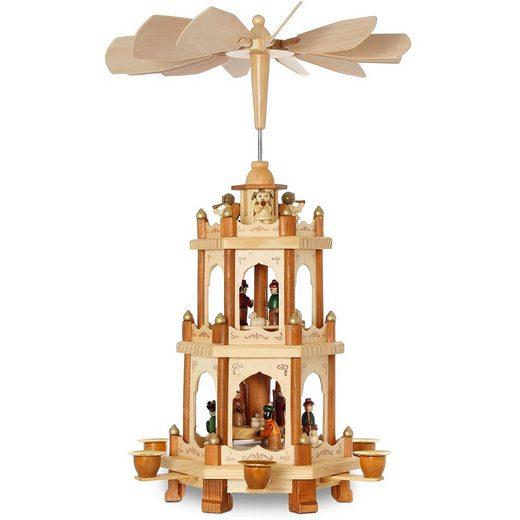 SIKORA Weihnachtspyramide »P20 aus Holz mit 3 Etagen H:45cm«