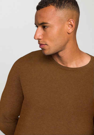 ONLY & SONS Rundhalspullover »JONAS CURVED CREW KNIT«