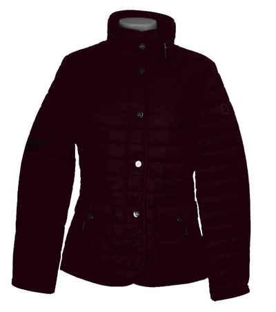 Basler Steppjacke »BASLER Steppjacke warmhaltende Damen Übergangsjacke mit im Stehkragen versteckbarer Kapuze Freizeit-Jacke Violett«