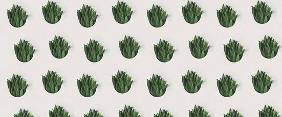 Architects Paper Fototapete »Leaf Pattern«, (Set, 6 St), Vlies, glatt