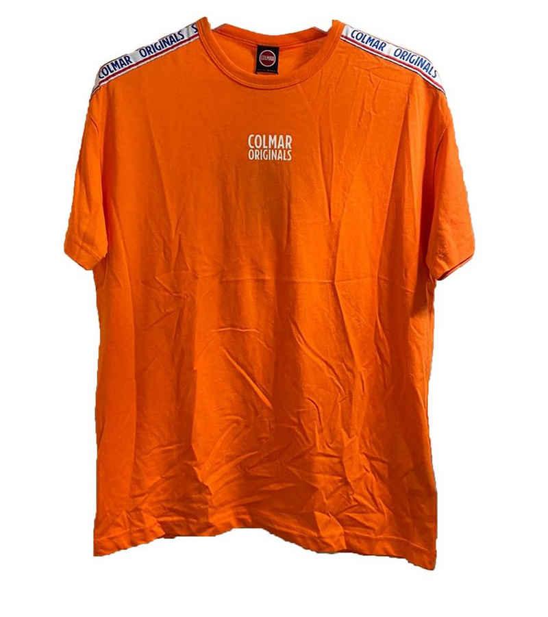 Colmar Shirttop »COLMAR Originals Kurzarm-Shirt sportliches Herren Freizeit-T-Shirt mit Marken-Banderole Alltags-Shirt Orange«