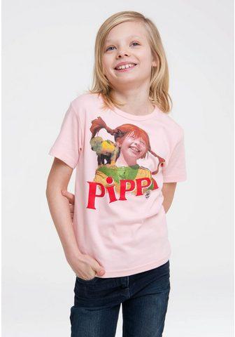 LOGOSHIRT Marškinėliai su Pippi Langstrumpf-Fron...