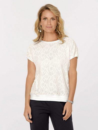 Mona Shirt mit floraler Spitze
