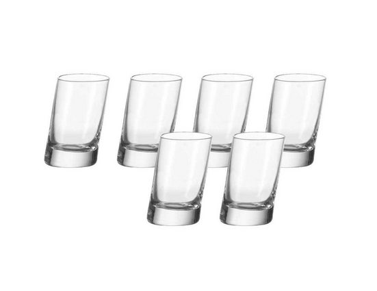 LEONARDO Schnapsglas »Stamper 6er-Set Pisa«