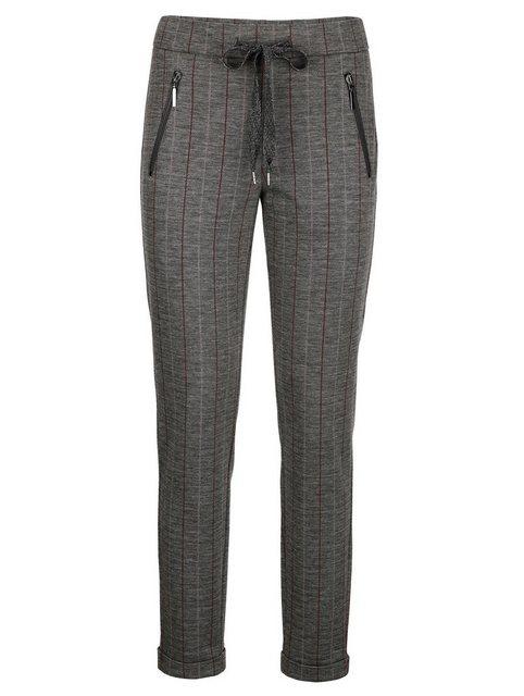 Hosen - Alba Moda Jerseyhose mit feinem kontrastfarbigem Streifenverlauf ›  - Onlineshop OTTO
