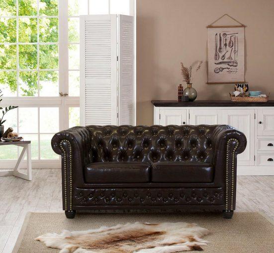 Premium collection by Home affaire 2-Sitzer »Rysum«, Chesterfield-Optik, in 2 Bezugsqualitäten