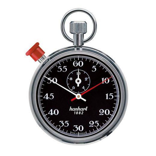 hanhart Stoppuhr »Stoppuhr Long Distance Stundenzähler«, glatte Lünette, 1/5-Sekunden-Messung, Sekundenzeiger, springender Minutenzeiger