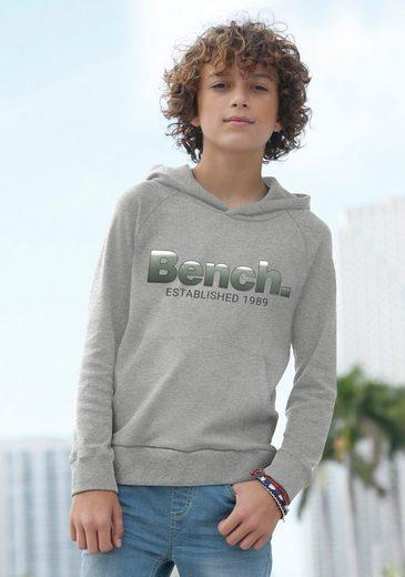 Bench. Kapuzensweatshirt mit Logodruck im Farbverlauf