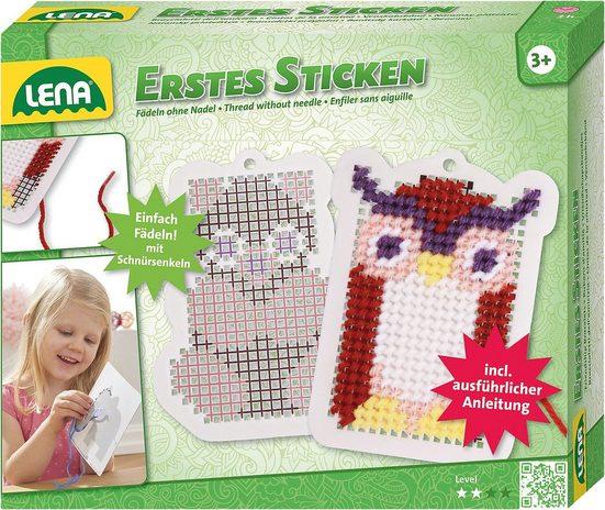 Lena® Kreativset »My First Erstes Sticken Eule / Eichhörnchen«
